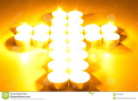 croix des bougies allum 233 es photo stock image du objet 34155984