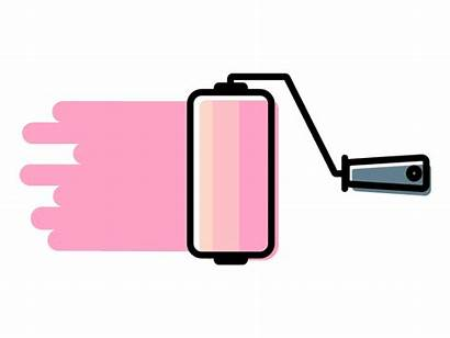 Paint Roller Aesthetic Intro Icon Background Dribbble
