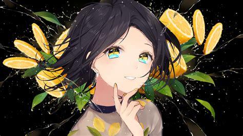 Download 2560x1440 Wallpaper Cute Anime Girl Happy Dual