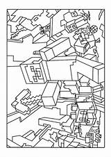 Coloring Minecraft Pages Printable sketch template