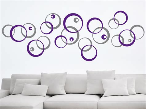 Wandgestaltung Kinderzimmer Kreise by Wandtattoo Kreative Kreise Ornament Zweifarbig Wandtattoo De