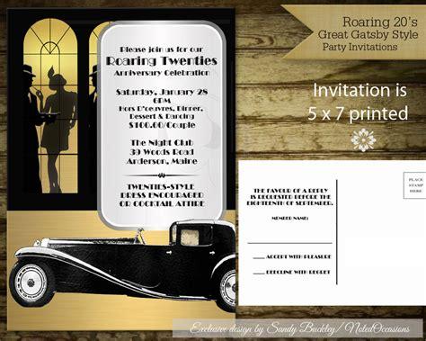 roaring twenties invitation template roaring 20 s invitations