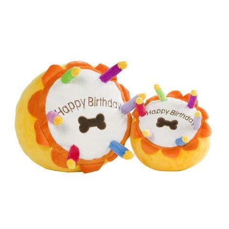 birthday cake squeaky dog toy petspyjamas