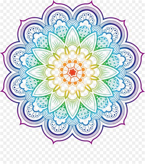 mandala coloring book buddhism illustration datura flower color  transprent png
