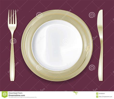 Dinner Plate Set 5 stock vector. Image of meal, clean