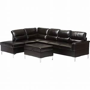 kinsley 3 piece large sectional sofa with ottoman faux With 3 piece sectional sofa with ottoman