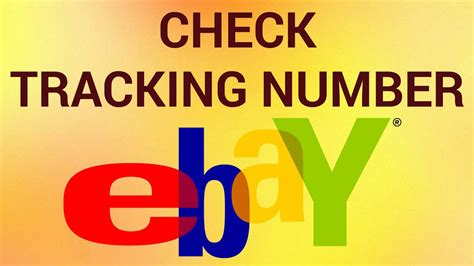 How to Check eBay Tracking Number - YouTube