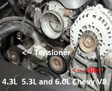 chevrolet  belt tensioner symptoms  solutions
