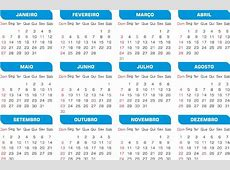Calendário 2019 10 Modelos Simples Png Sem Tema Com
