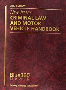 9781947146105  New Jersey Criminal Law And Motor Vehicle