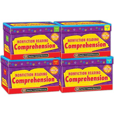 Nonfiction Reading Comprehension Card Set (4 Boxes)  Tcr9812  Teacher Created Resources