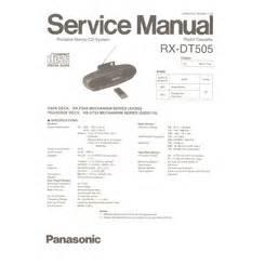 Visonik Wiring Diagram by Rx Dt505 Panasonic Service Manual Highqualitymanuals