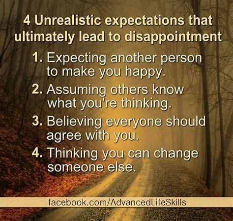 Unrealistic Expectations Lsa