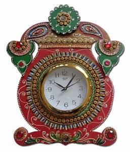 Unique, Indian, Crafts, Circular, Analog, Wall, Clock, D, U00c3, U00a9cor, Watch, 3, X, 35, Cms, Buy, Unique, Indian