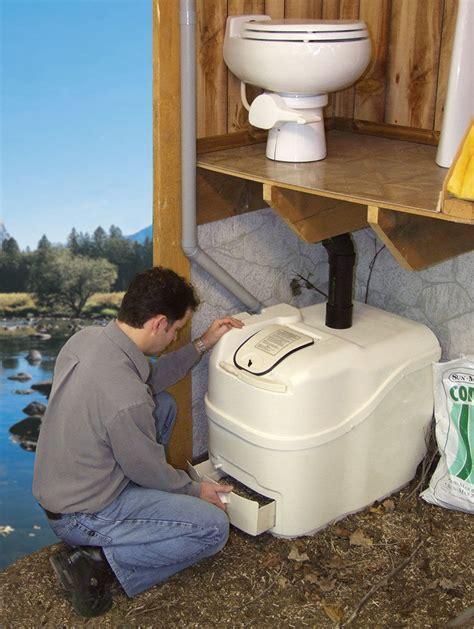Sun Mar, Composting Toilet, Central Flush System   Odor