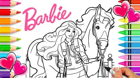 barbie horse coloring page barbie coloring book printable barbie coloring pages glitter