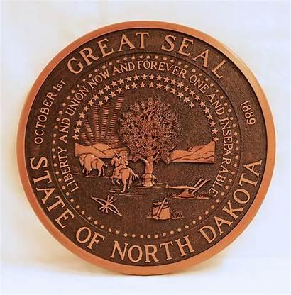Seal Dakota State North Plaque Wall Nd