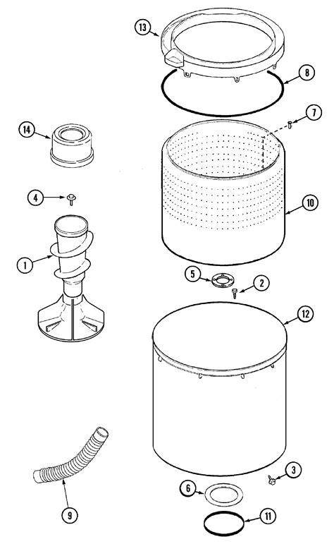 tub diagram parts list  model maveww maytag parts washer parts searspartsdirect