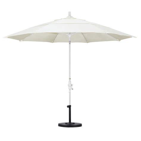 California Umbrella 11 ft. Fiberglass Collar Tilt Double ...