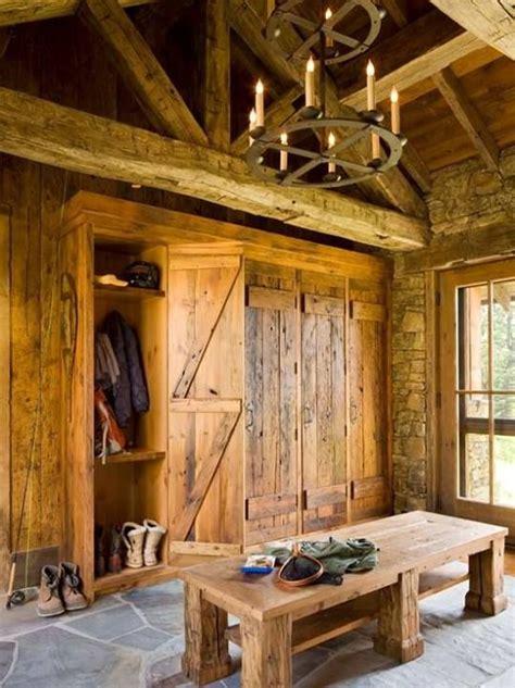 rustic mudroom home decor log home ideas pinterest