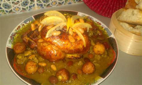 cuisine marocaine poulet aux olives poulet a la marocaine citron confit olives et m 39 hammar