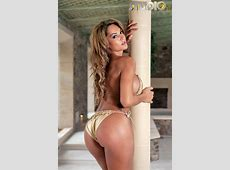 Fernanda Ferrari In A Golden Bikini