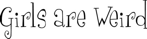 girls  weird font