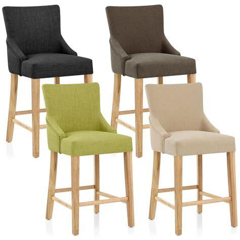 chaise de bar bois tissu magna monde du tabouret