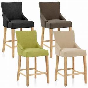 Chaise Cuisine Haute : chaise de bar bois tissu magna monde du tabouret ~ Teatrodelosmanantiales.com Idées de Décoration