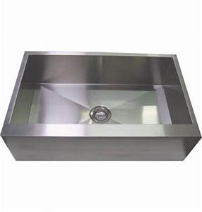 36 inch stainless steel single bowl flat front farm apron With 36 inch apron front kitchen sink
