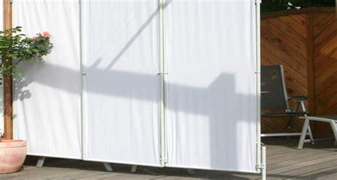 Wind Und Regenschutz Für Terrasse by Windschutz Terrasse Mit Sichtschutz Paravent Sonnensegel