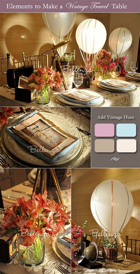 table decorations for a vintage travel theme home decor in 2019 vintage travel wedding