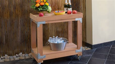 indooroutdoor bar cart diy