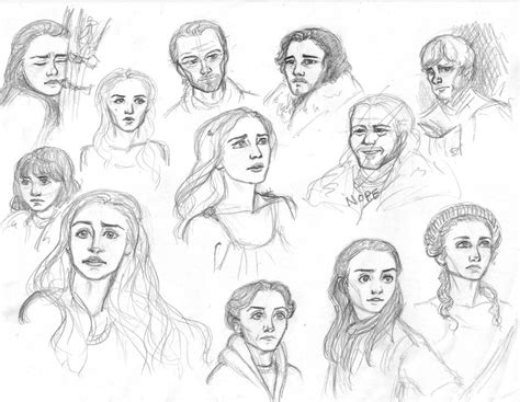 Game Of Thrones Sketches By Salzburger89