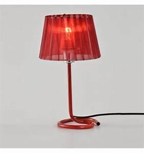 Lampe A Poser Design : lampe rouge poser design arizona ~ Teatrodelosmanantiales.com Idées de Décoration