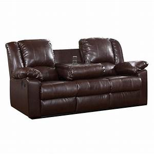 brown leather sofa modern faux couch reclining cup holder With leather sectional recliner sofa with cup holders