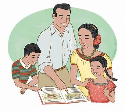Latino Families Literacy Parents Bilingual Books Learners