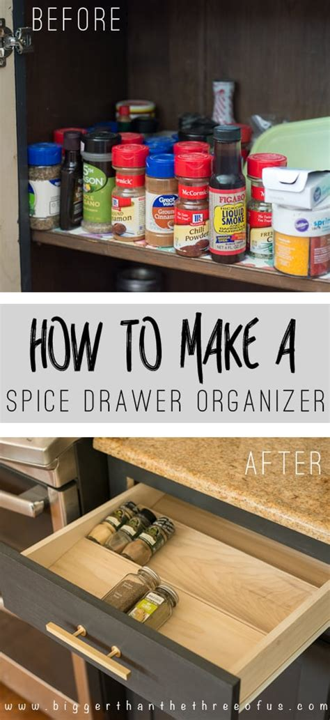 Organized Kitchen Ideas - get organized with this diy spice drawer organizer bigger than the three of us