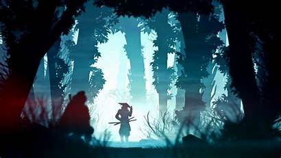 Samurai 4k Wallpapers Digital Forest Minimalist Resolution