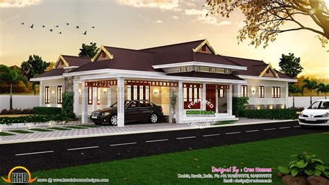 ranch floor plans open concept traditional kerala house kerala home design and