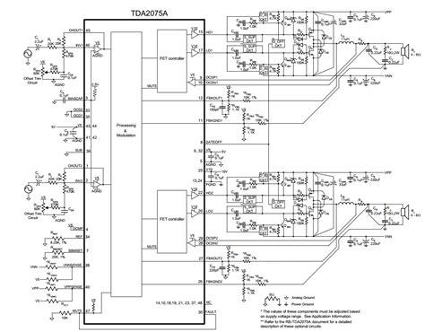 Schematic Diagram Stereo Class Digital Audio