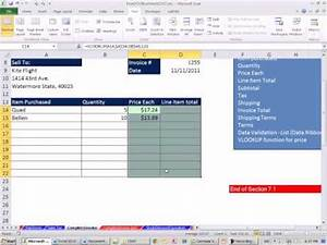 excel 2010 business math 61 create an invoice in excel With how to create an invoice in excel 2010