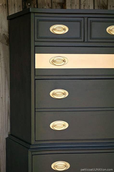metallic gold stripe adds drama  bedroom furniture