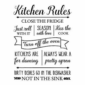 Kitchen Rules Wall Quotes™ Decal WallQuotes com