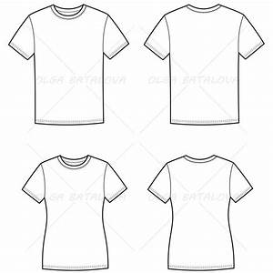 women39s and men39s t shirt fashion flat templates With clothing templates for illustrator
