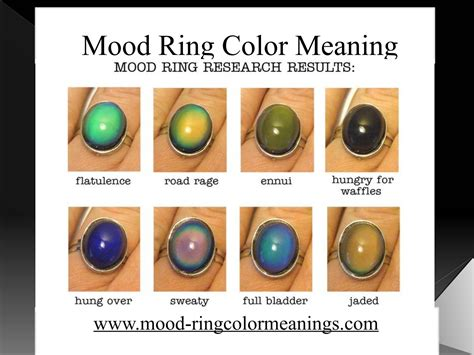 what do the colors of a mood ring mood ring color meaning by mood ring color issuu