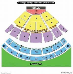 Saratoga Performing Arts Center  Spac  Seating Chart