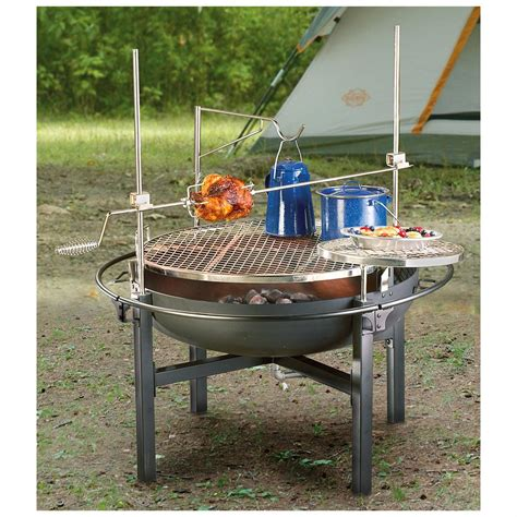pit with grill cowboy pit rotisserie grill 282386 stoves at