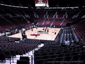Moda Seating Chart With Seat Numbers Moda Center Section 116 Portland Trail Blazers