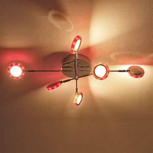 Led Deckenleuchte Rgb : led deckenleuchte mit fernbedienung und rgb 6 flammig 6x 5 watt 14 00 cm 6 flammig 75 00 cm ~ Watch28wear.com Haus und Dekorationen